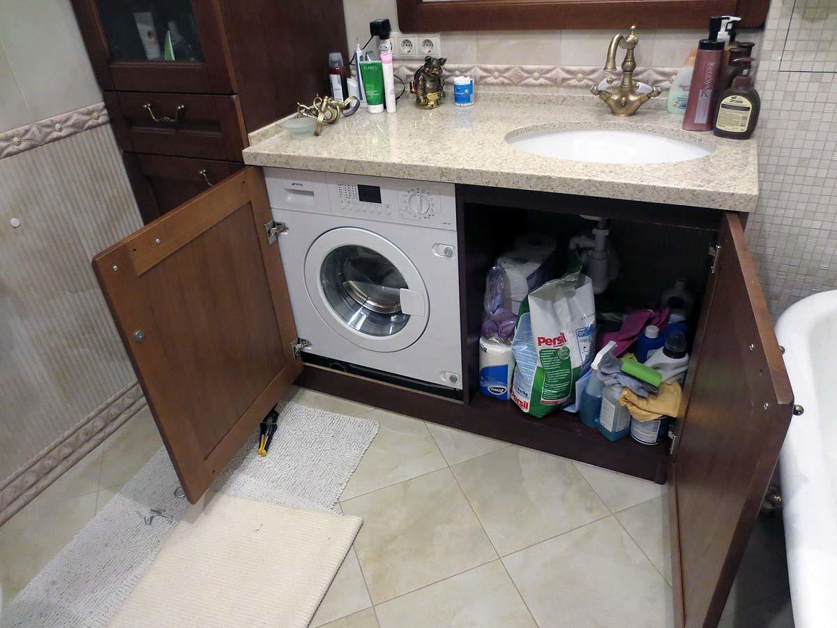 Badezimmer Design Mit Waschbecken Uber Dem Waschen Einbau Der Spule